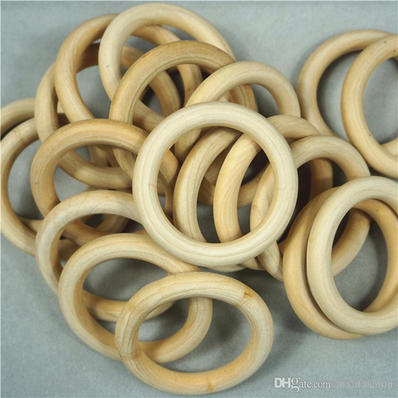 200 unids buena calidad granos de madera de la dentición granos de madera del anillo para hacer la joyería DIY artesanías 15 20 25 30 35 mm