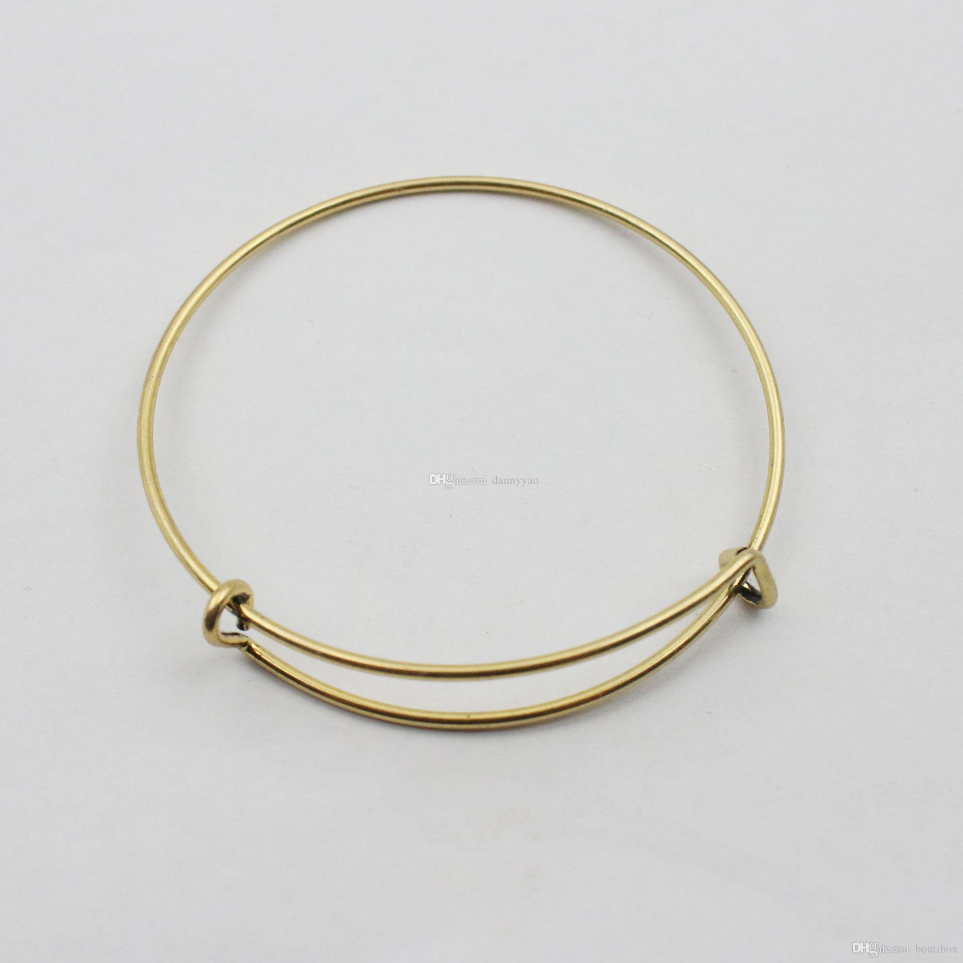 Top Popular 6 5cm Adult Iron Wire Bangles Wholesale Drop Shipping