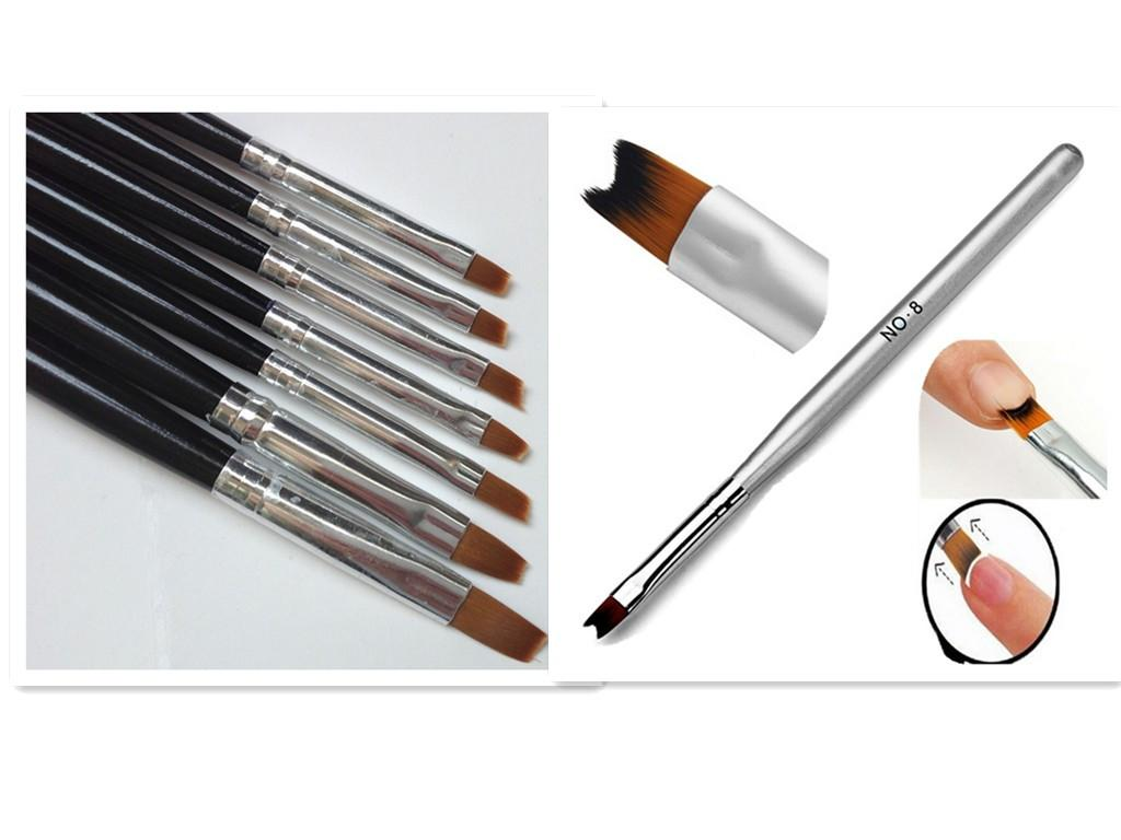 Fashion #8 French Nail Pen Brush+Flat Nail Art Brush Flat Pen ...