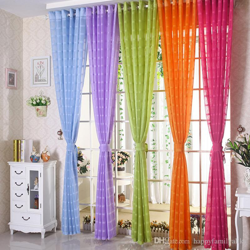 Superb 2018 Sheer Curtains Living Room Drapes Elegant Curtain Sheer Window  Screening Brief Fashion Punching Gauze 42w/50w/72w Multi Colors 1 Panel  From ...