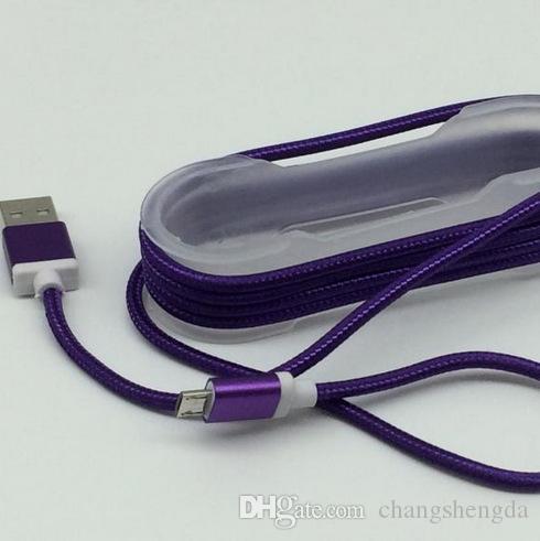 Aluminium-Legierung weben Kopfhörer Kabel Android-Handy verwenden Micro-USB-2.0-Schnittstelle für Samsung Oppo verwenden