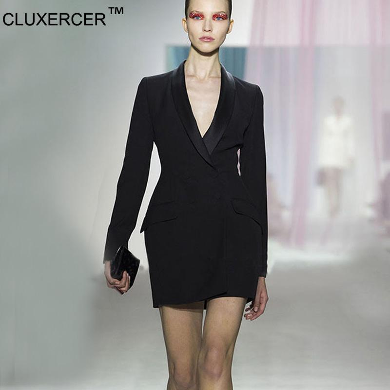 2017 Cluxercer Brand Blazer Women Work Wear Long Suit Jackets ...