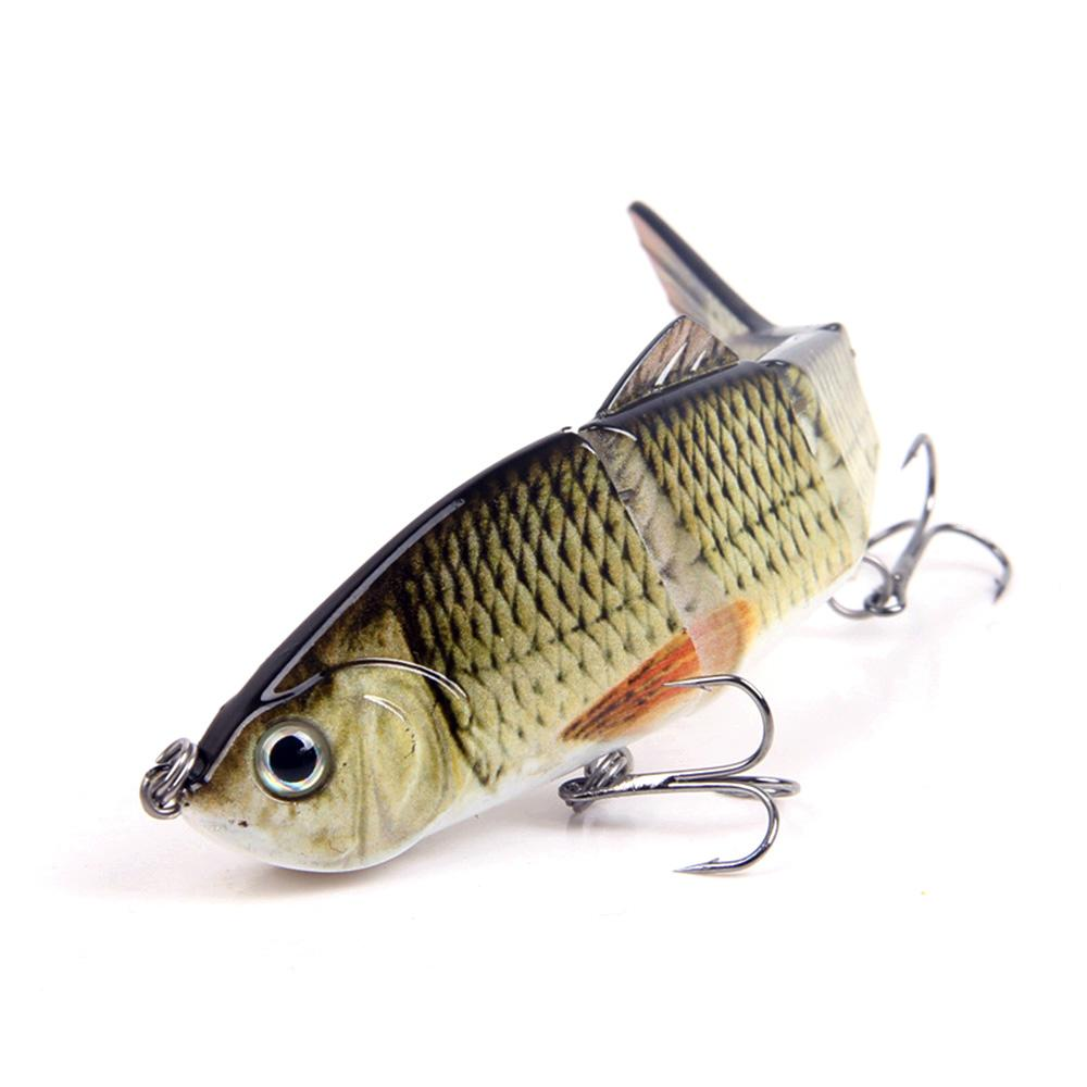 Hard Fishing Lures 120mm Artificial Pesca Segments Multi-Jointed Life-like Swimbait Crank Fishing Bait 2 Treble VMC Hooks