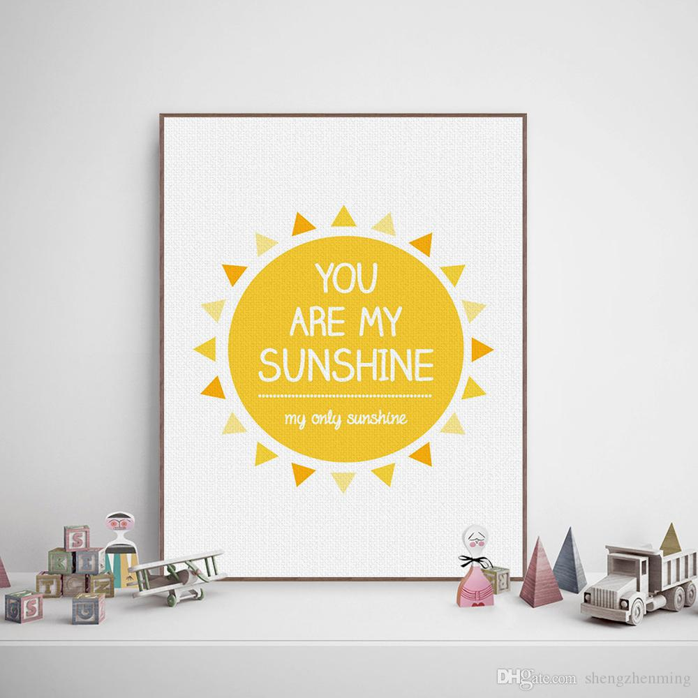 2018 Minimalist Yellow Sunshine Typography Love Song Quotes Art ...