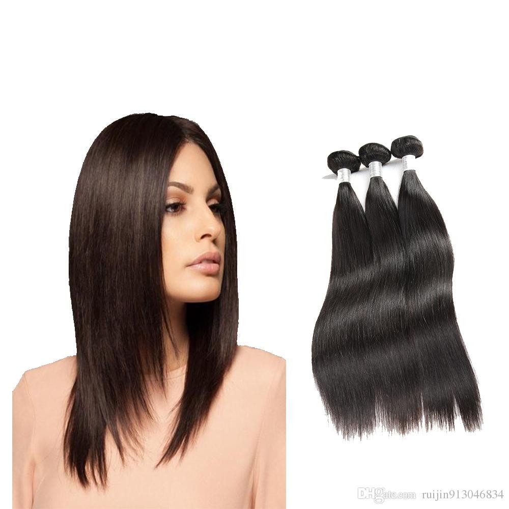 Best Selling Human Hair Bundles Brazilian Straight Hair Weave 3 Or
