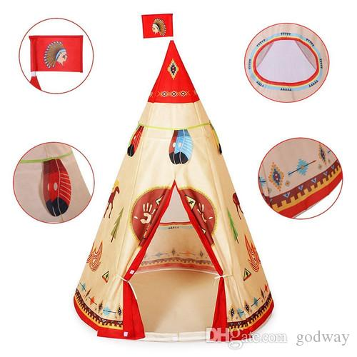 New Wigwam Teepee Tent Baby Play Tent Garden Game Child Kids Garden Indoor Castle Playing Tent Kids Tent With Balls Tents House From Godway $25.12| Dhgate.  sc 1 st  DHgate.com & New Wigwam Teepee Tent Baby Play Tent Garden Game Child Kids ...