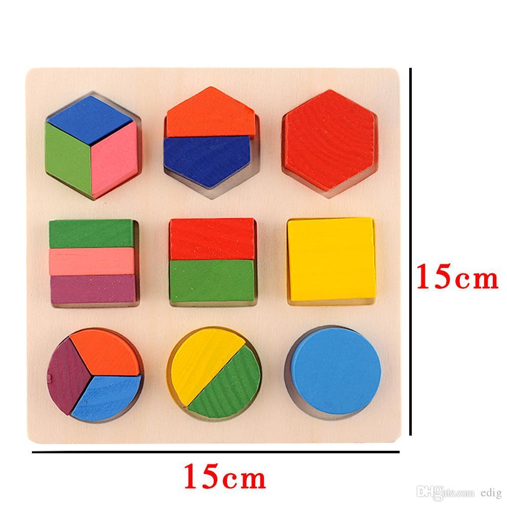 لعبة الهندسة الفكرية مونتيسوري التعليمية في وقت مبكر بنة الشكل الخشبي للاهتمام سن 3