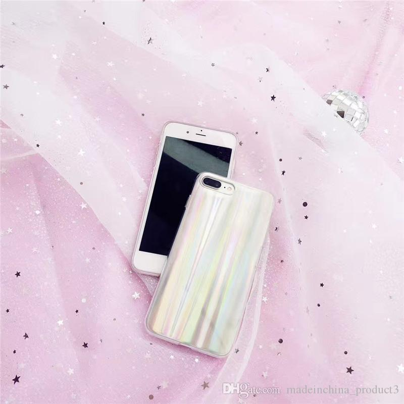 For iphone X Cover Rainbow Transparent IMD Soft TPU Phone Case for iphone 8 7 6s 6 plus 8plus Back Covers