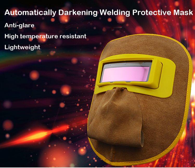 HUATE marca escurecimento automático Máscara de Solda, lente solar, tela protetora soldador rosto, soldagem de trabalho suprimentos de seguro, Tela Protetora