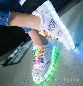 Korean Style Winter Loves 7 Colors Luminous Casual Flat Shoes USB Charging Multi Color LED Glowing Man Women Fleece Sneakers low price fee shipping cheap price outlet top quality T1w5c