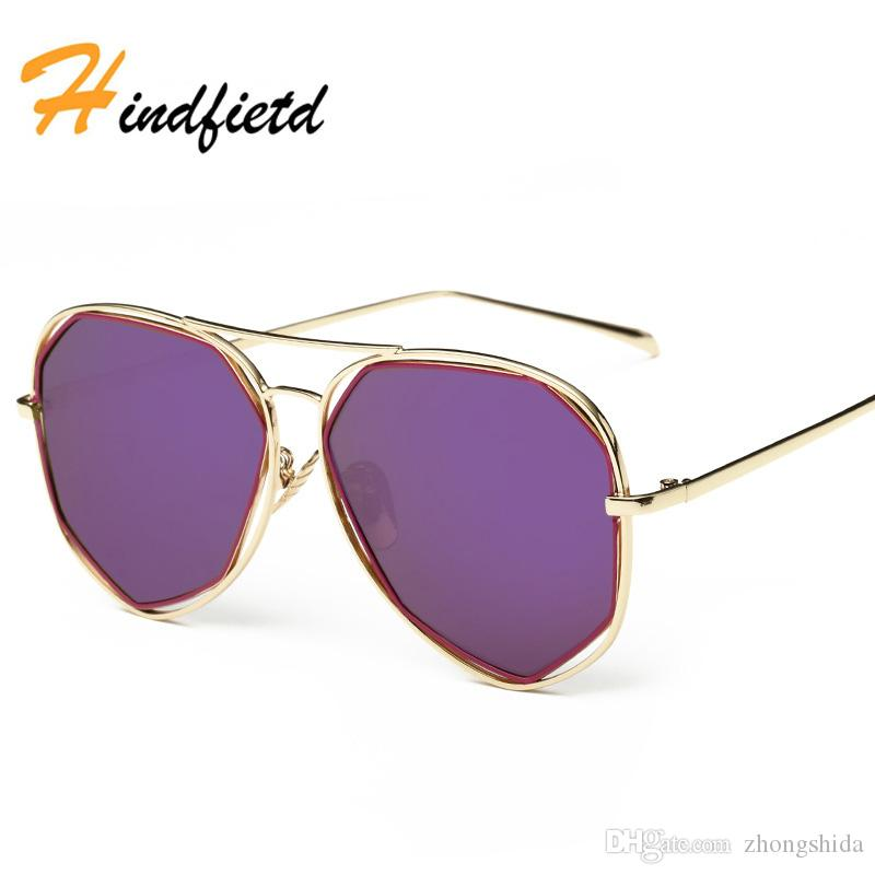 660c32b9fe Hindfield Real Polarized Cat Eye Sunglasses Women  Men Brand Design ...