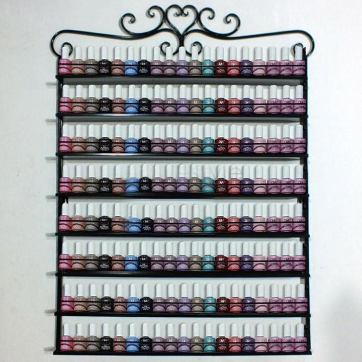 2019 8 Layers Metal Frame Nail Polish Display Wall Rack Stand