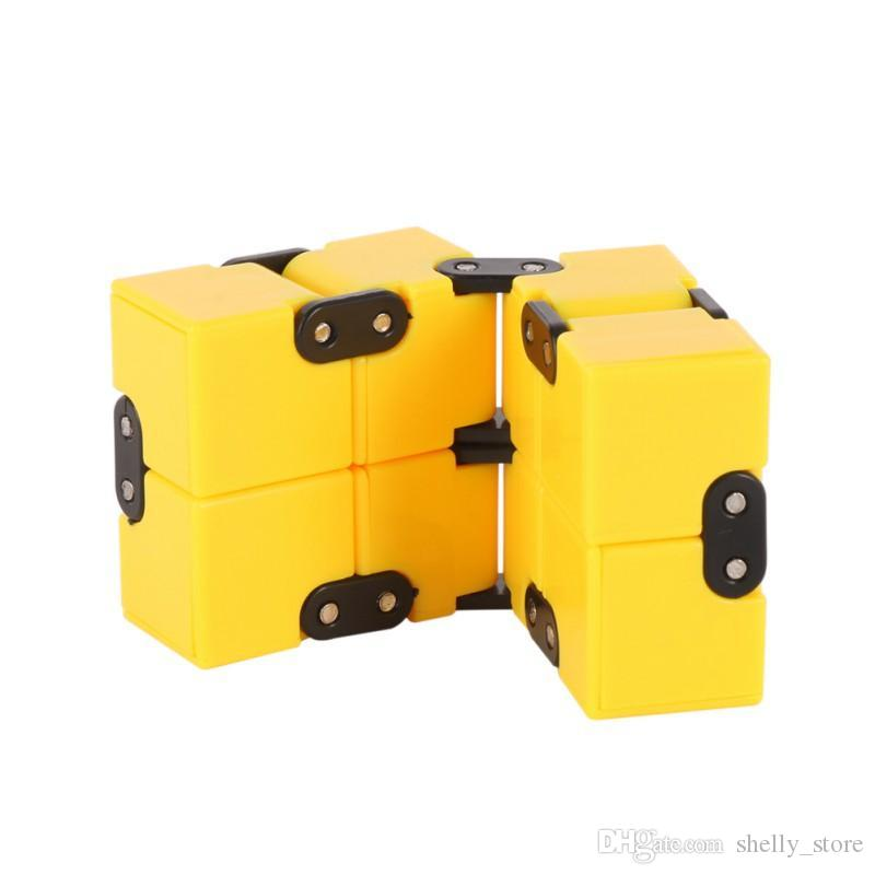Wholesale Mini Cube Toy Fidget Finger EDC Anxiety Stress Relief Magic Cube Blocks Adults Children Kids Funny Toys Best Gift