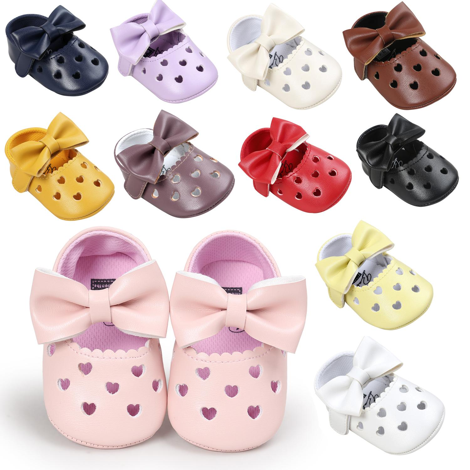 7e798aa28340e 2019 Retail New Style Baby Girl Prewalkers Sweet Heart Bowknot Baby Girl  Shoes Princess Shoes For Choose From Taolebi