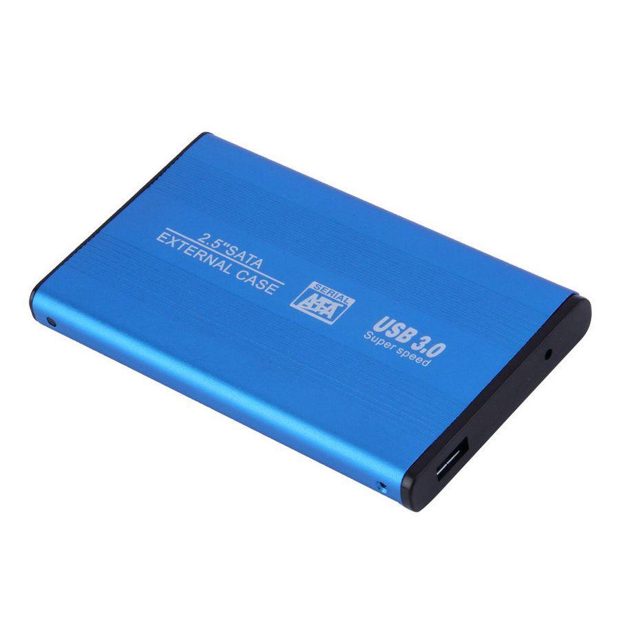 Blau / Schwarz Super Speed USB 3.0 Festplatte Externes Gehäuse 2,5 Zoll SATA HDD Gehäuse Box Mobile Disk 2.5 '' HD USB3.0