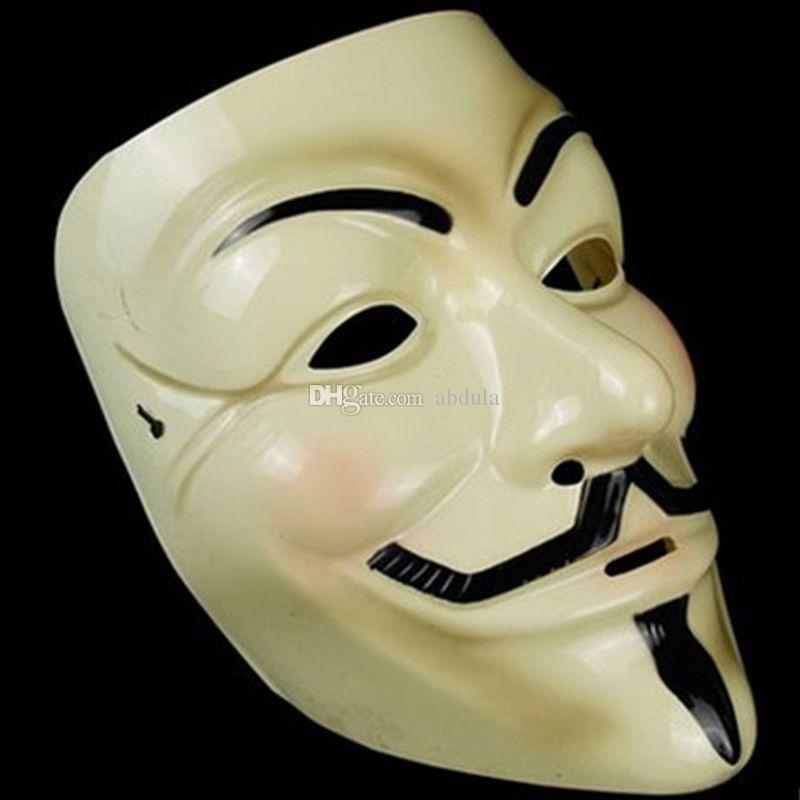 Máscaras de la mascarada V Máscara partido de la venganza Hombres New V de Vendetta Anonymous película de Guy Fawkes máscara máscaras de Halloween Cosplay V