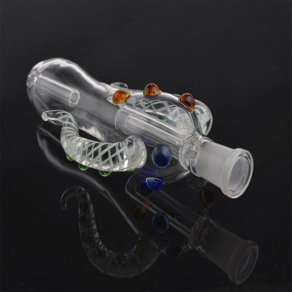 NC Dab 4.0 OX Horn Form Glas Bongs Pfeife Wasser Bong 14mm Joint Schnelles Verschiffen