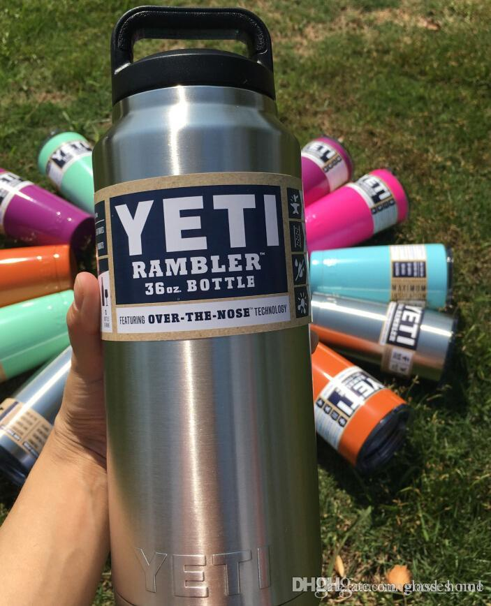 36 Oz Yeti Powder Coated Cup Rambler Insulated Water Bottle