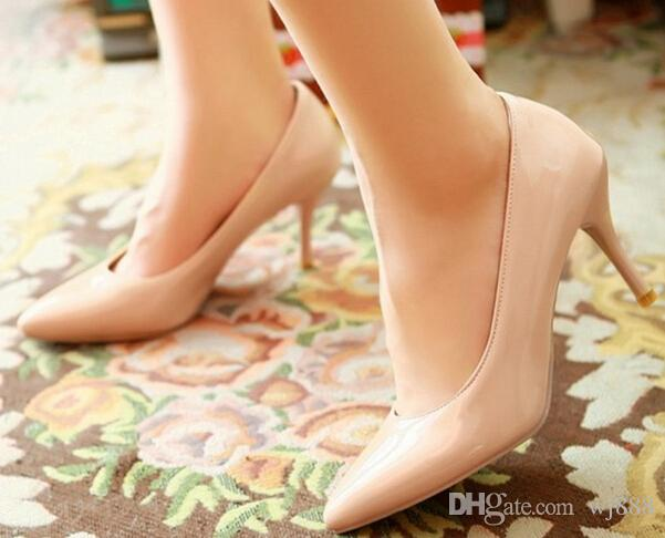 Five colors Plus Size 34-45 2016 New Fashion high heels women pumps thin heel classic white red beige sexy wedding shoes