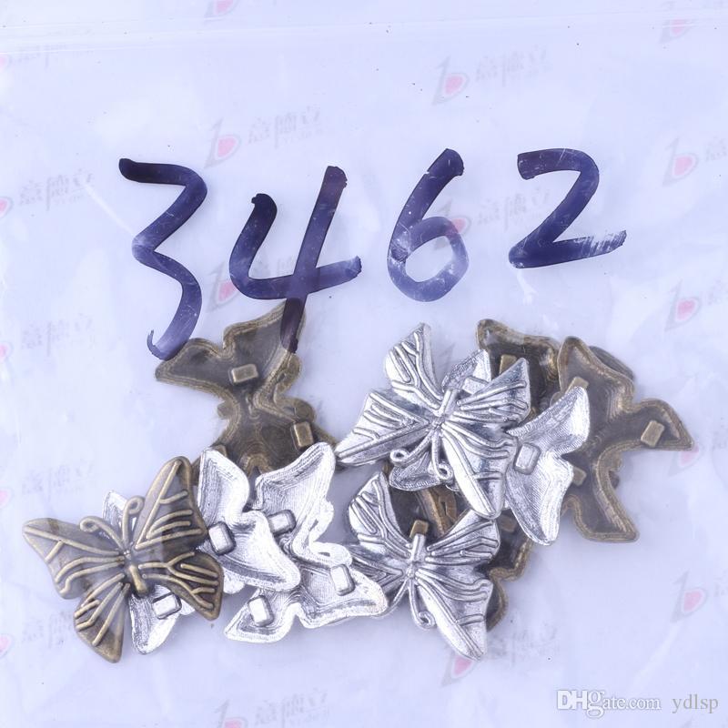 Papillon antique argent / bronze classique bricolage pendentif fit bracelets collier charmes des bijoux en métal faisant / 3462