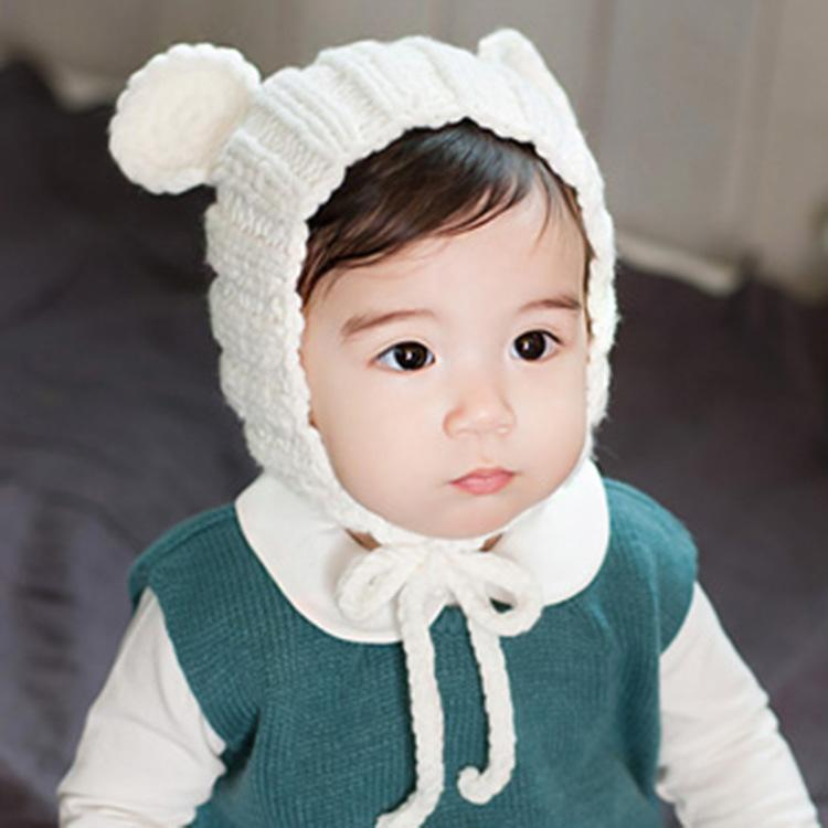 Korean girl and boy cute cartoon winter bear baby hat children ear korean girl and boy cute cartoon winter bear baby hat children ear hand knit wool cap sleeve head infants beanies headwear baby winter hat beanies caps voltagebd Gallery