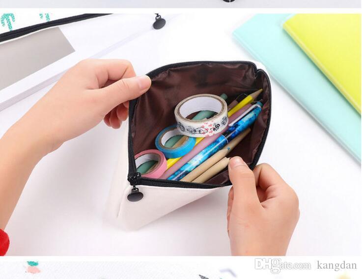사무실 학생 지퍼 연필 펜 가방 문구 케이스 클러치 주최자 가방 선물 저장 파우치 아기 선인장 동전 지갑 소녀 메이크업 가방