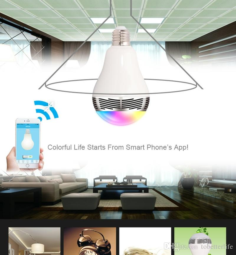 Smart Bulb Wireless Bluetooth music Audio Speakers bulbs 3W E27 LED RGB Light Music Bulb Lamp Color Changing via Bluetooth App Control
