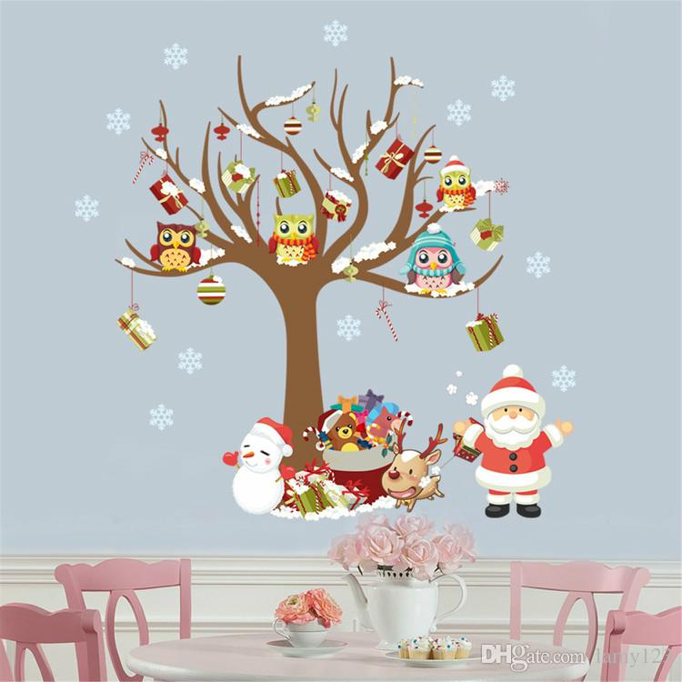 Wholelsae Cartoon Diy Christmas Tree Wall Stikers Waterproof Pvc Wall Decor Removable Home Bedroom Living Room Wall Decal Wallpaper Wall Decors Wall Design ...  sc 1 st  DHgate.com & Wholelsae Cartoon Diy Christmas Tree Wall Stikers Waterproof Pvc ...
