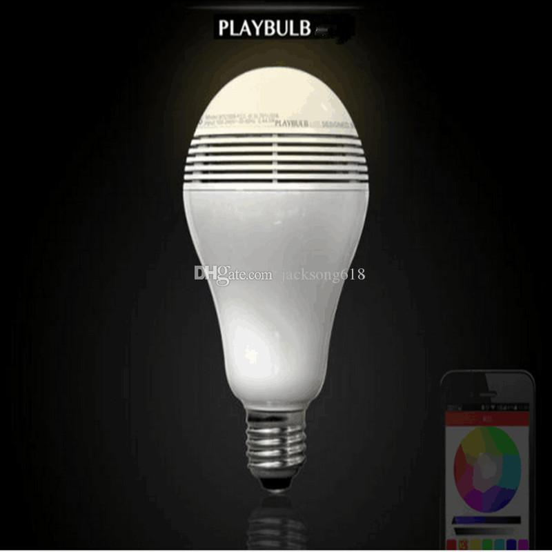 Wireless Control Speaker Bluetooth Smart Music Audio Speaker LED RGB Color Bulb Light Lamps E27 bluetooth speakers wholesale