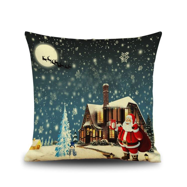 Father Christmas Pillow Case Merry Christmas Reindeer