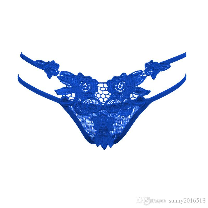 Hot Sale Fashion Sexy Erotic Womens Underwear Sexy Thongs G-string Lingerie Flower Lace V-string Briefs for Women Girls Underwear