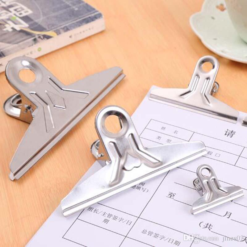 Powerful Office Grip Clips Bulldog Clips Newspaper Letter Snacks Bag Sketchpad Clips Metal Clip Size 118mm/150mm