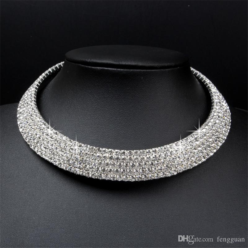 Wholesale Clean Crystal Jewelry Gorgeous Wedding Bride Rhinestone