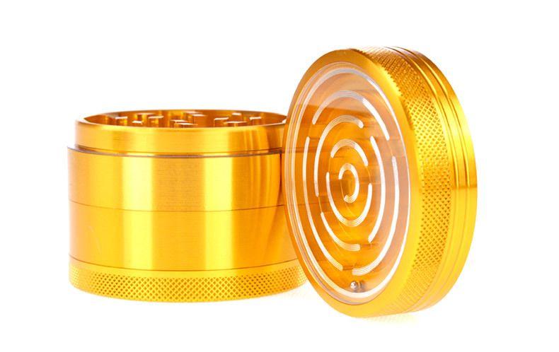 [sp] Maze Game Grinders Aluminiumlegierung 63mm Durchmesser 4 Teile Metall Grinders Herb Grinders Herb Crusher vs Sharpstone Mühlen