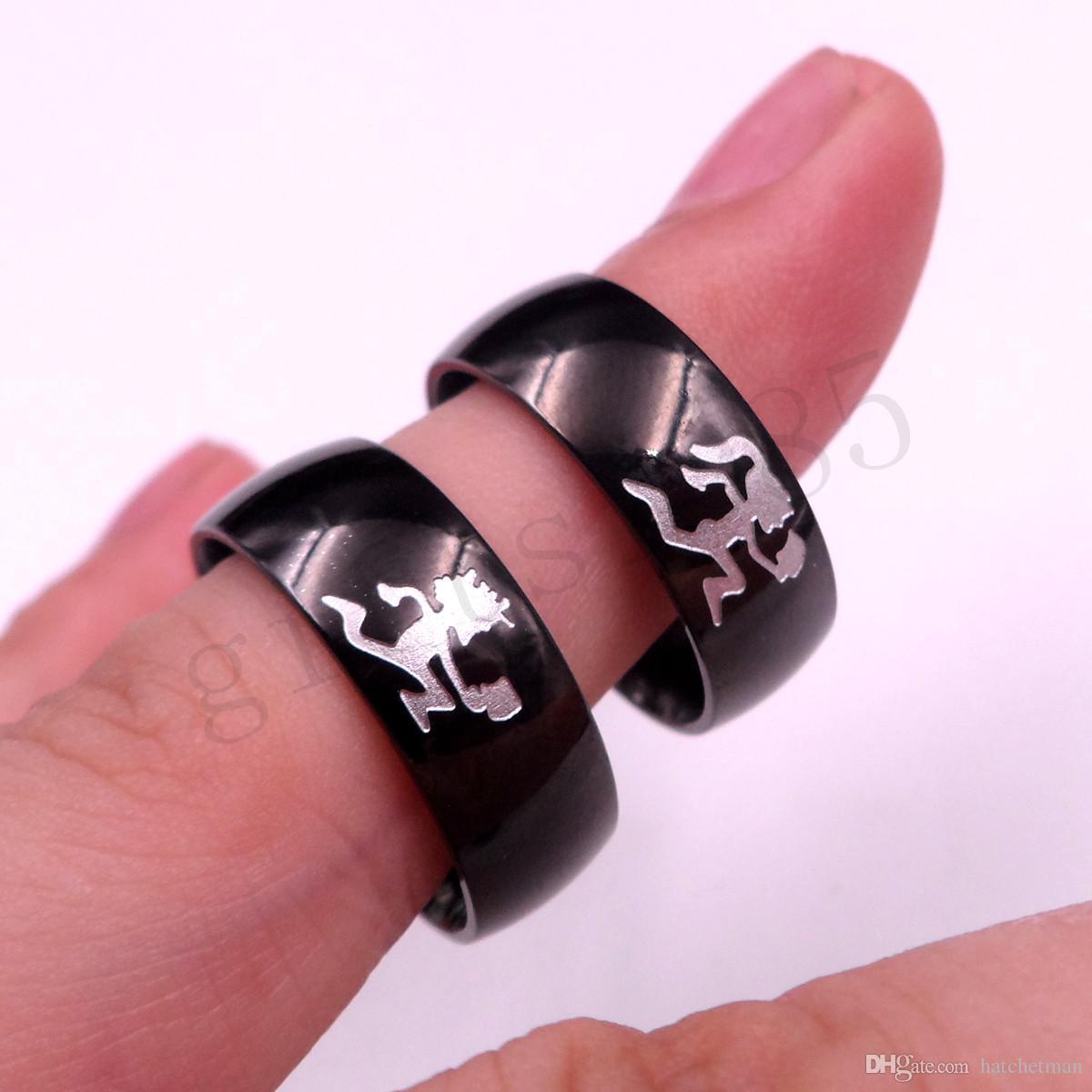 HATCHETMAN девушка черное кольцо из нержавеющей стали ICP травление TWIZTID полированный