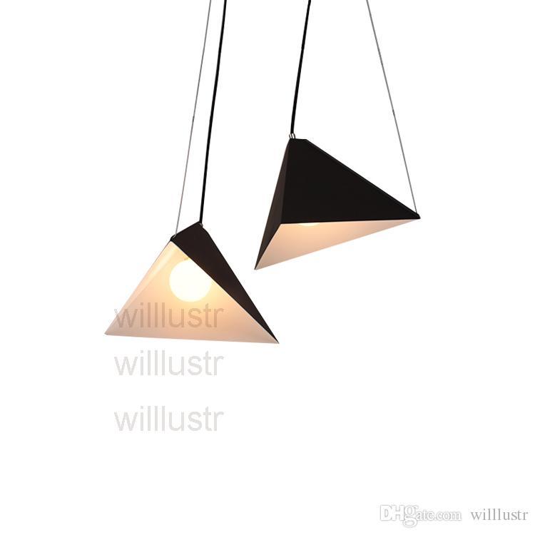 Willlustr üçgen piramit süspansiyon lamba yemek odası oturma odası metal kolye ışık otel salonu restoran asılı aydınlatma