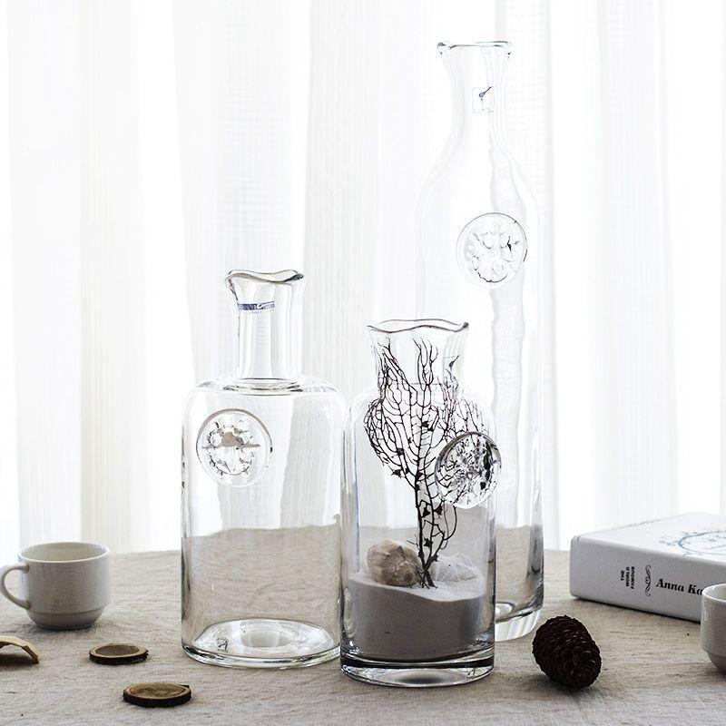Simple Fashion American Mediterranean Style Transparent Glass Vase