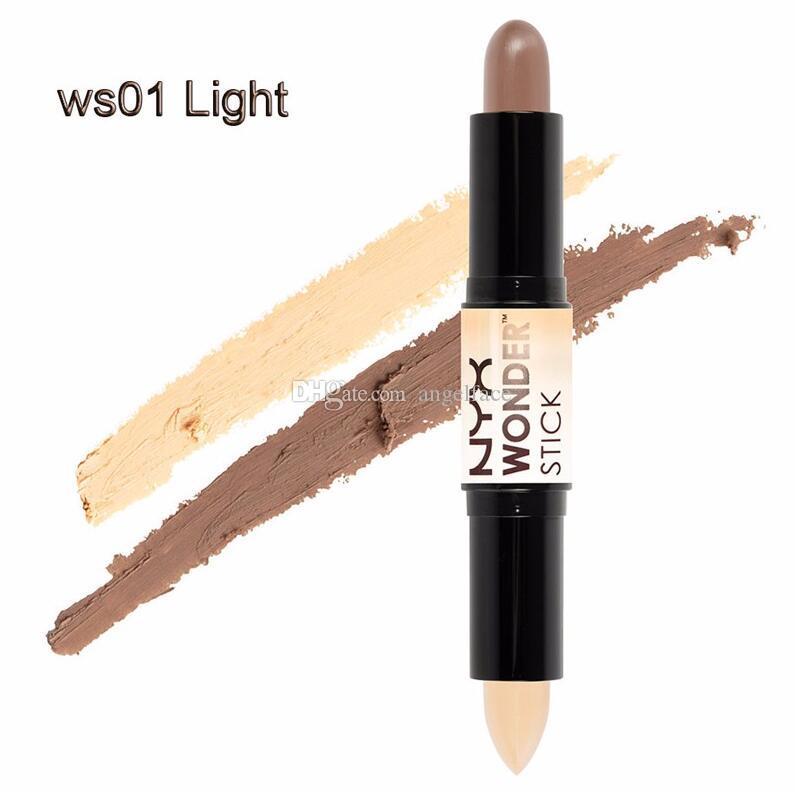 NYX Wonder Stick Rifinitura Alta luminosità illuminare la copertina Correttore Silkworm Pen Marca Trucco Bellezza Cura del viso Leggero / Medio / Profondo / Universale