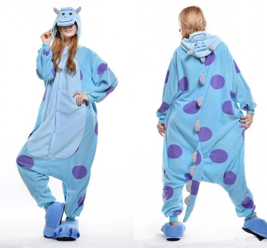 Funny Sulley Kigurumi Pajamas Animal Suits Cosplay Outfit Halloween ...