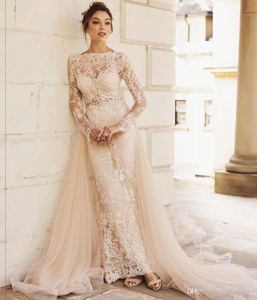 Discount Vintage Bohemian Handmade Country Wedding Dresses Chantilly ...