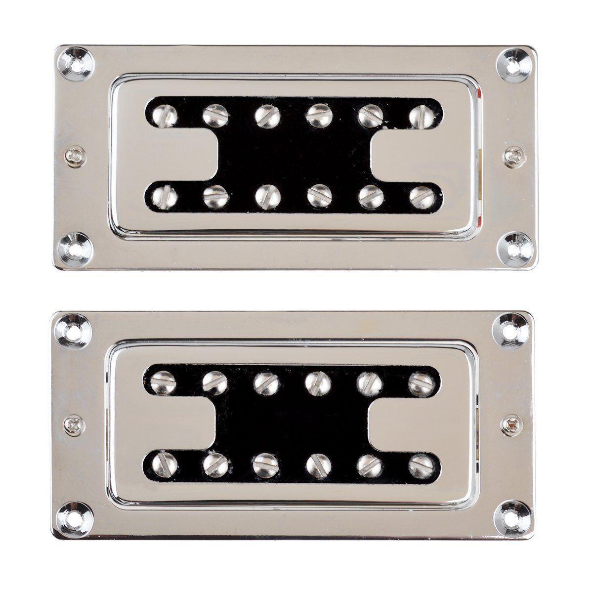 2018 Chrome Humbucker Bridge Neck Set Pickups For Rickenbacker Bass ...