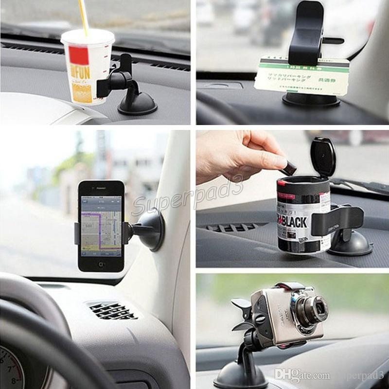 Universal Windshield Car Mount Bracket Holder Stands For Mobile Phone Smart Phones Cell Phone Mounts Holders Fast DHL