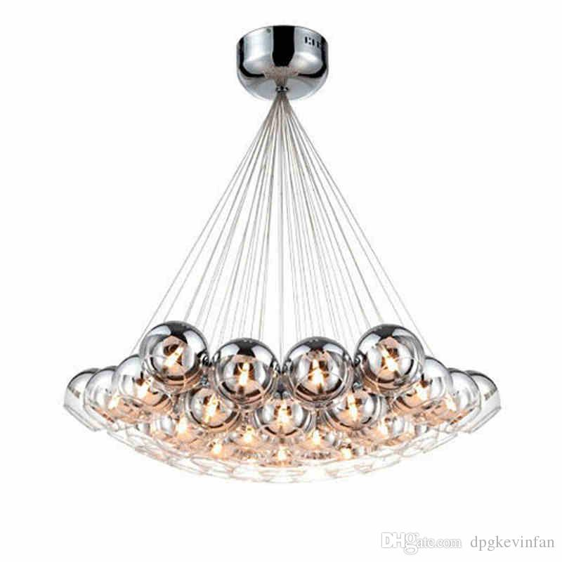 Modern chrome glass balls led pendant chandelier light for living modern chrome glass balls led pendant chandelier light for living dining study room home deco g4 hanging chandelier lamp fixture hanging ceiling lamp unique aloadofball Image collections