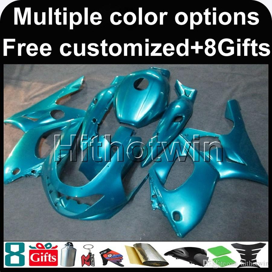 23colors + 8Gifts BLUE для капота мотоцикла Yamaha YZF600R 1997-2007 97 98 99 00 01 02 03 04 05 06 07 ABS