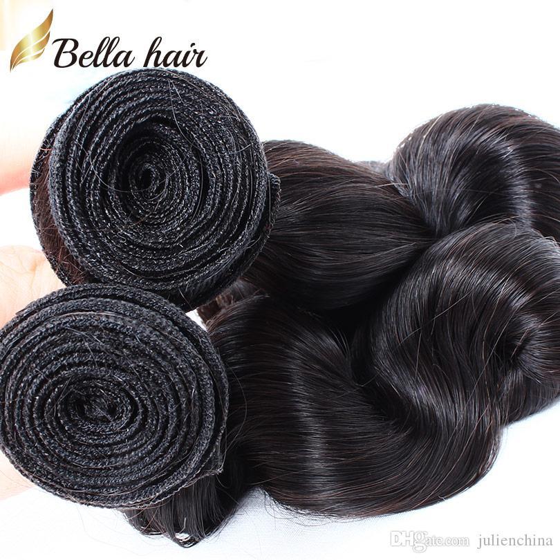 9A الأكثر مبيعا الشعر التمديد الإنسان الهندي 10-24 بوصة / اللون الطبيعي الأسود متموج فضفاض موجة الشعر شحن مجاني