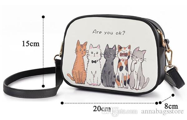 DIY Cat Story/Flower Girl/Lost Zebra/Forest Walk Cartoon Printing Women Messenger Bag In Shoulder Bag Girls Mini Cross-body Bag