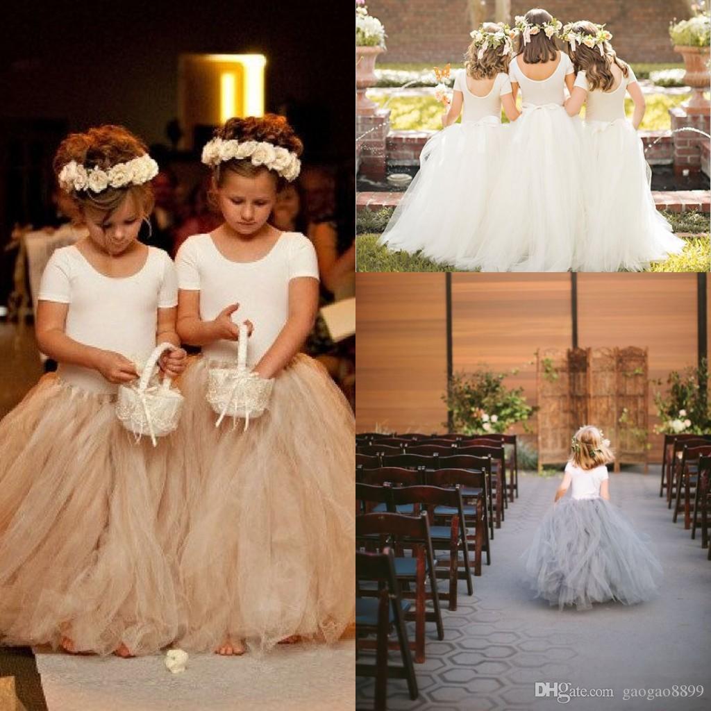 8ef36625c 2017 Toddler And Child Full Length Tutu Skirt Flower Girls Dresses Little  Girls Holy Communion Dresses Puffy Skirts Princess Gowns Flower Girl Dresses  For ...