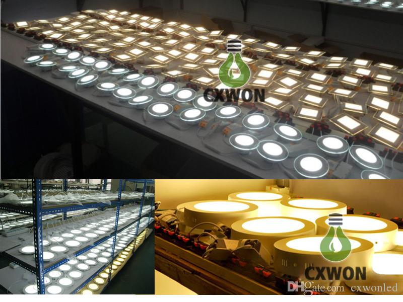LED Ceiling Recessed Downlight Round Panel Light Ultra Thin Design 4W 6W 9W 12W 18W Indoor lighting AC100-240V CE UL 3 years warranty
