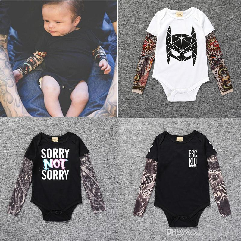 df5b6aa66baa 2019 Boutique Long Sleeved Jumpsuits Rompers Baby Boys Kids Clothing ...