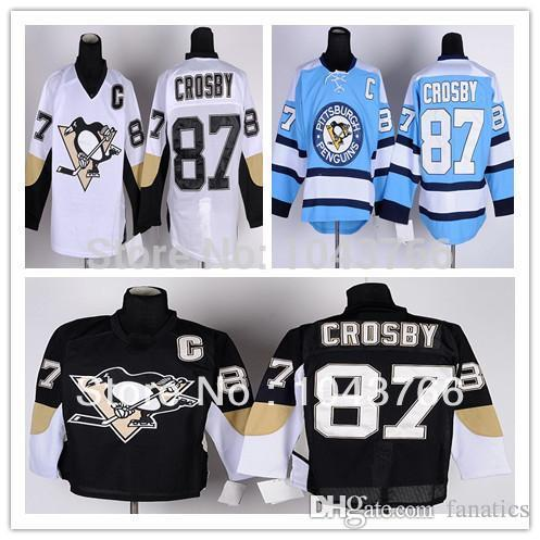 info for a4cf3 d7c97 Kids Sidney Crosby Jersey Youth Black Pittsburgh Penguins Blue #87 Sidney  Crosby Youth Jersey White For Boys Children Girls Fans